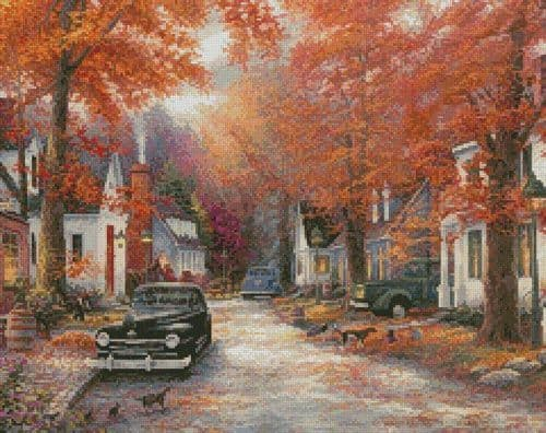 A Moment on Memory Lane (Crop 1) by Artecy printed cross stitch chart